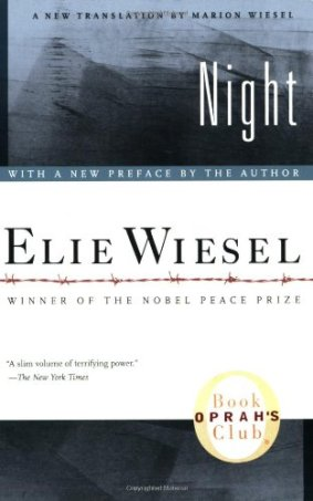 Book cover - Night - by Elie Wiesel