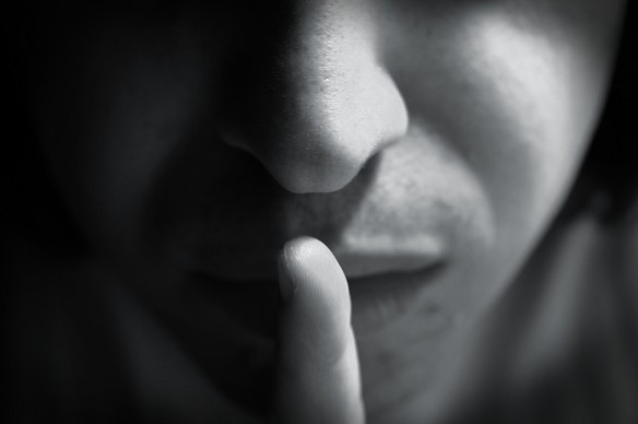 photo of finger to lips - shhh!
