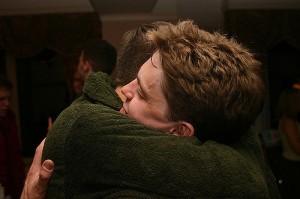 a friend's embrace